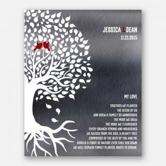 My Love Poetry Wedding Tree Roots