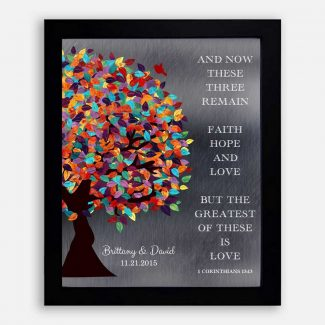 1 Corinthians 13:13 Spring Wedding Tree