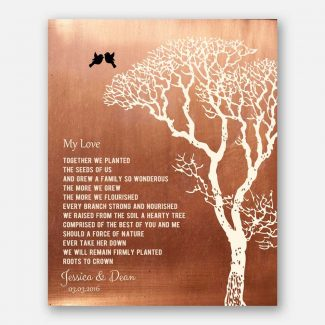 My Love Poem Personalized Faux Copper