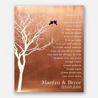 Bare Tree Love Birds Personalized Corinthians