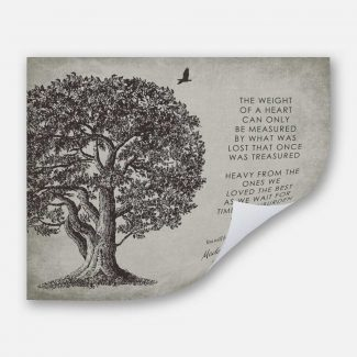 Memorial In Loving Memory Poem Oak