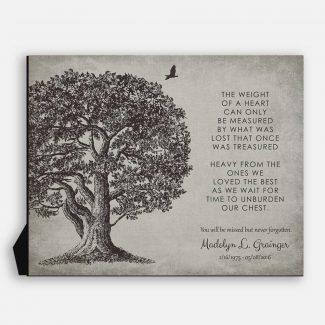 Memorial In Loving Memory Poem Oak