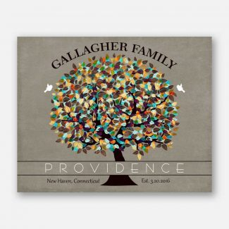 Personalized Gift For Family Anniversary Established Providence Gift For Couple 1342