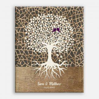 Minimalist Tree Roots Taupe Cream Brown