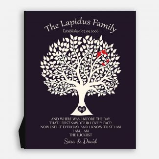 Personalized Family Tree Poem, Purple, I