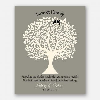 Love And Family Tree With Poem