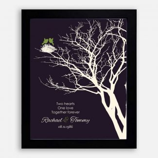 1st Year Anniversary Peridot Personalized Family