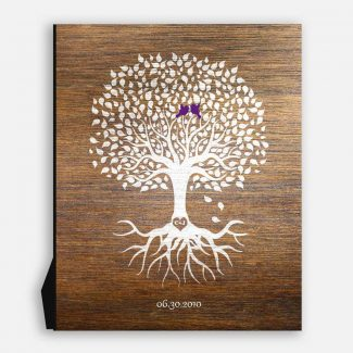 6th Anniversary Personalized Wedding Tree Faux