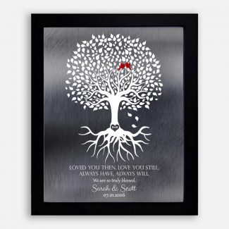 10 Year Anniversary Personalized Family Minimalist