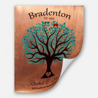 22nd Anniversary Personalized Traditional Wedding Tree