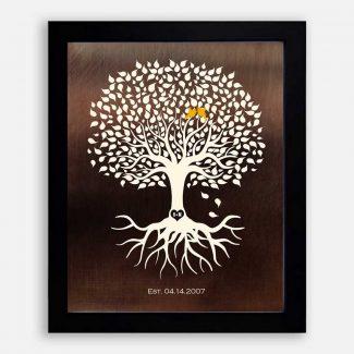 Personalized Anniversary Minimalist Tree on Faux