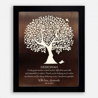 Personalized Gift For Mentor Faux Bronze