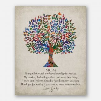 Gift For Mother Poetry Family Tree