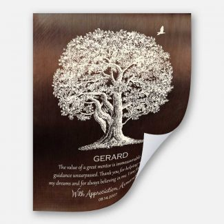 Gift For Mentor Large Oak Tree