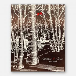 Winter Romance Wedding Bare Birch Tree