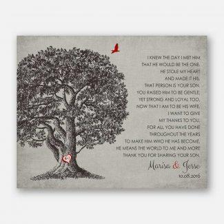 Mother of Groom Gift Large Oak