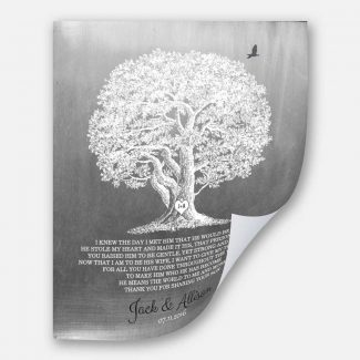 Large Oak Tree Faux Aged Tin