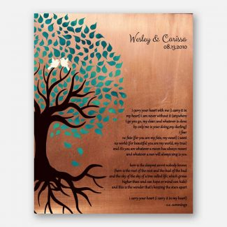 Seven Year Faux Copper Gift For