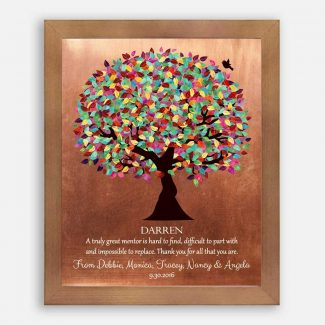 Mentor Gift Colorful Tree of Faux