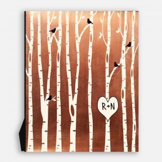 7 Year Anniversary Birch Trees Forest