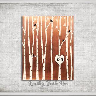 7 Year Anniversary Birch Trees Forest