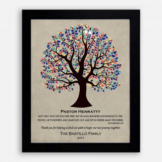 Personalized Gift For Pastor Wedding Thank