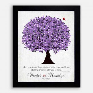 Purple Wedding Tree Personalized 10 Year