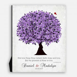 Purple Wedding Tree Personalized 10 Year