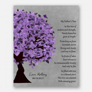 My Father's Tree Gift For Dad's Birthday Thank You Gift From Daughter To Father Poem #1482