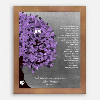 Mother of Groom Gift Personalized Thank