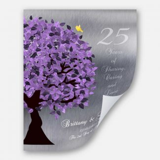 25 Year Anniversary Personalized Gift Silver