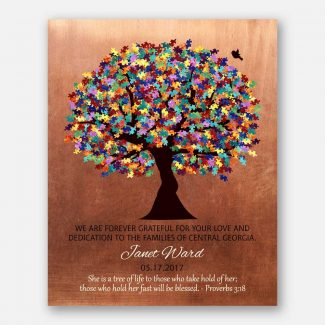 Personalized Autism Teacher Gift for Autism