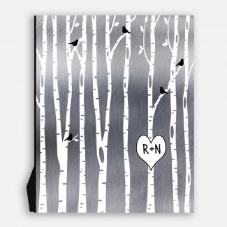 10 Year Anniversary Gift | Birch Trees | White Trees | Birch Forest | Personalized | #1503