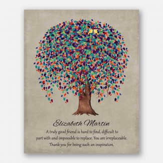 Personalized Gift For Friend, Truly Great Friend, Weeping Willow Tree, Gift for BFF, -WWT #1508