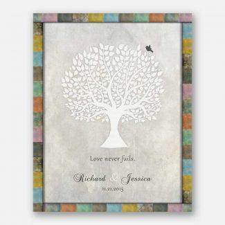 Anniversary Gift, White Tree, Love Never