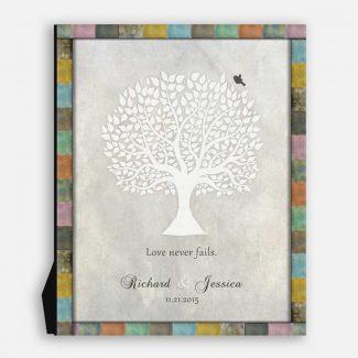 Anniversary Gift, White Tree, Love Never Fails, Gift For Couple #LT-1519