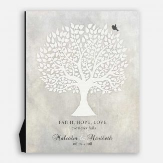 Anniversary Gift, White Tree, Faith Hope Love, Gift For Couple #LT-1520