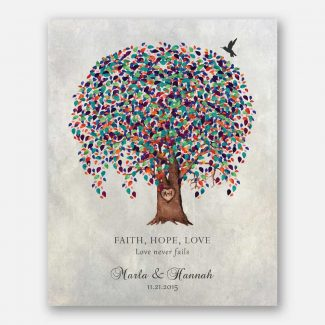 Anniversary Gift, Watercolor Weeping Willow Tree, Faith Hope Love, Gift For Couple #LT-1522