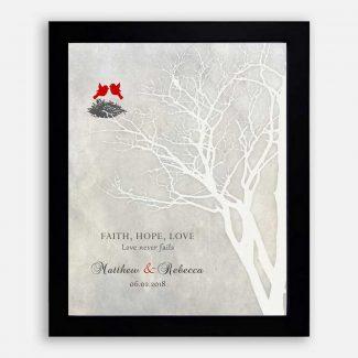 Anniversary Gift, White Bare Tree, Faith