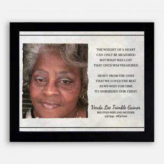 Family Gift For Memorial Photo Print