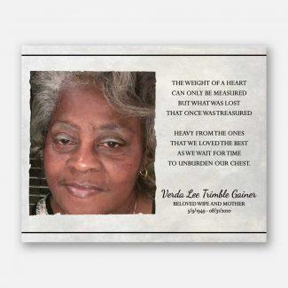 Photo Memorial, Sympathy Gift, Funeral Poem,