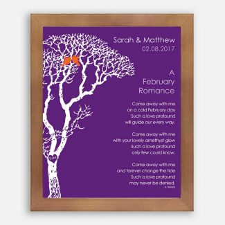 February Romance Love Poem Personalized Engagement
