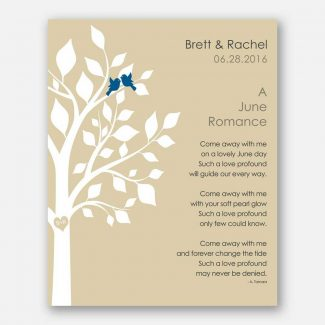 June Romance Love Poem Personalized Engagement