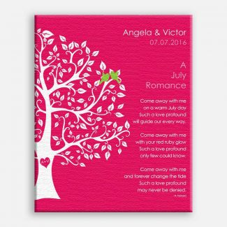 July Romance Love Poem Personalized Engagement