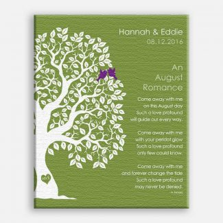 August Romance Love Poem Personalized Engagement