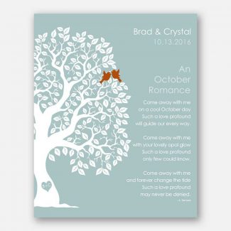 October Romance Love Poem Personalized Engagement