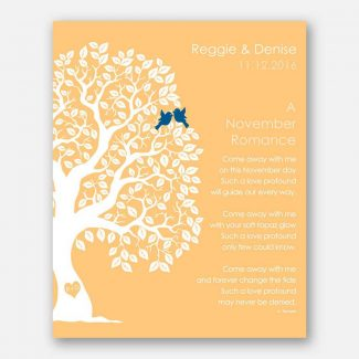 November Romance Love Poem Personalized Engagement