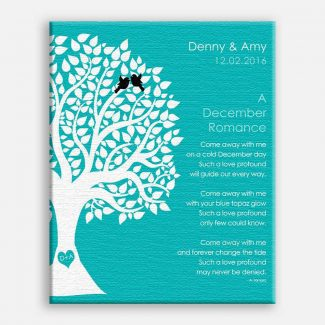 December Romance Love Poem Personalized Engagement