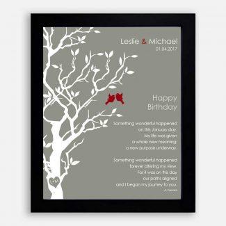 January Birthday Love Poem Personalized Happy