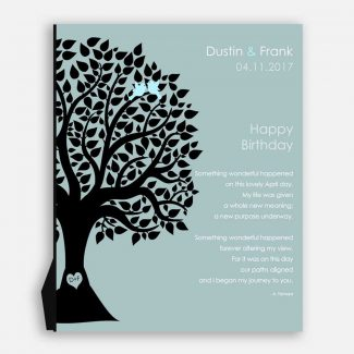 April Birthday Love Poem Personalized Happy